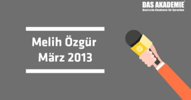 Melih ÖZGÜR – März 2013