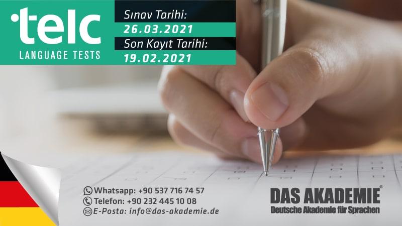 mart 2021 telc sınavı